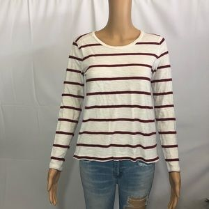 Madewell Stripe Long Sleeve Shirt Size Small